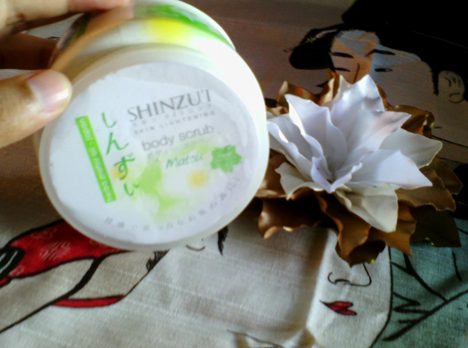 Your Test Shinzui Skin Lightening Body Scrub Matsu Nova Wijaya