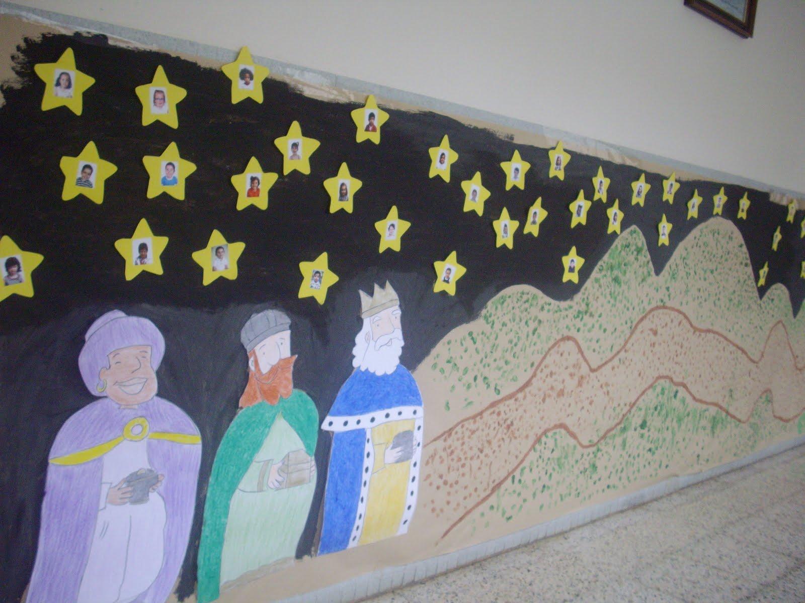 Educaci n infantil mural de navidad - Mural navidad infantil ...