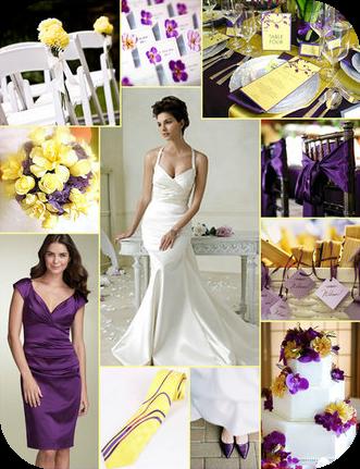 colore viola, colore giallo, yellow, purple, bozzetto matrimonio