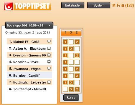 topptipset resultat 13 april
