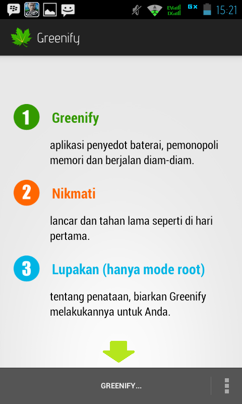 Cara Instal Greenify