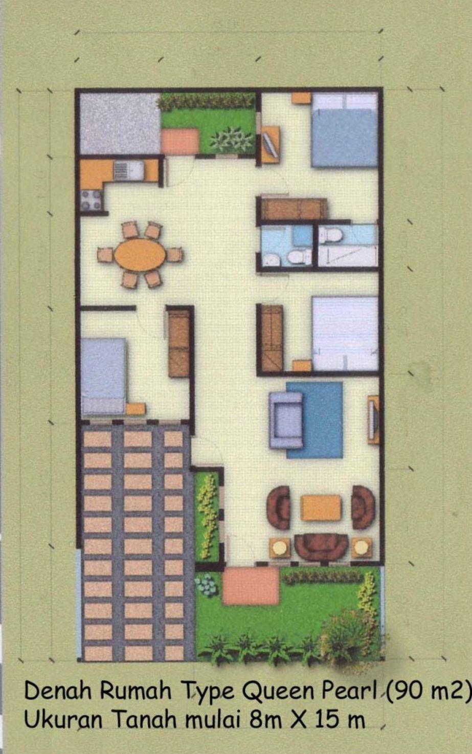 model denah rumah type 90 terbaru