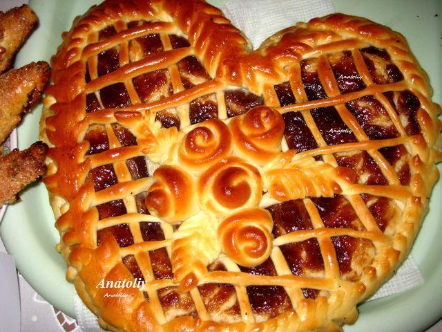 пироги с повидлом из дрожжевого теста