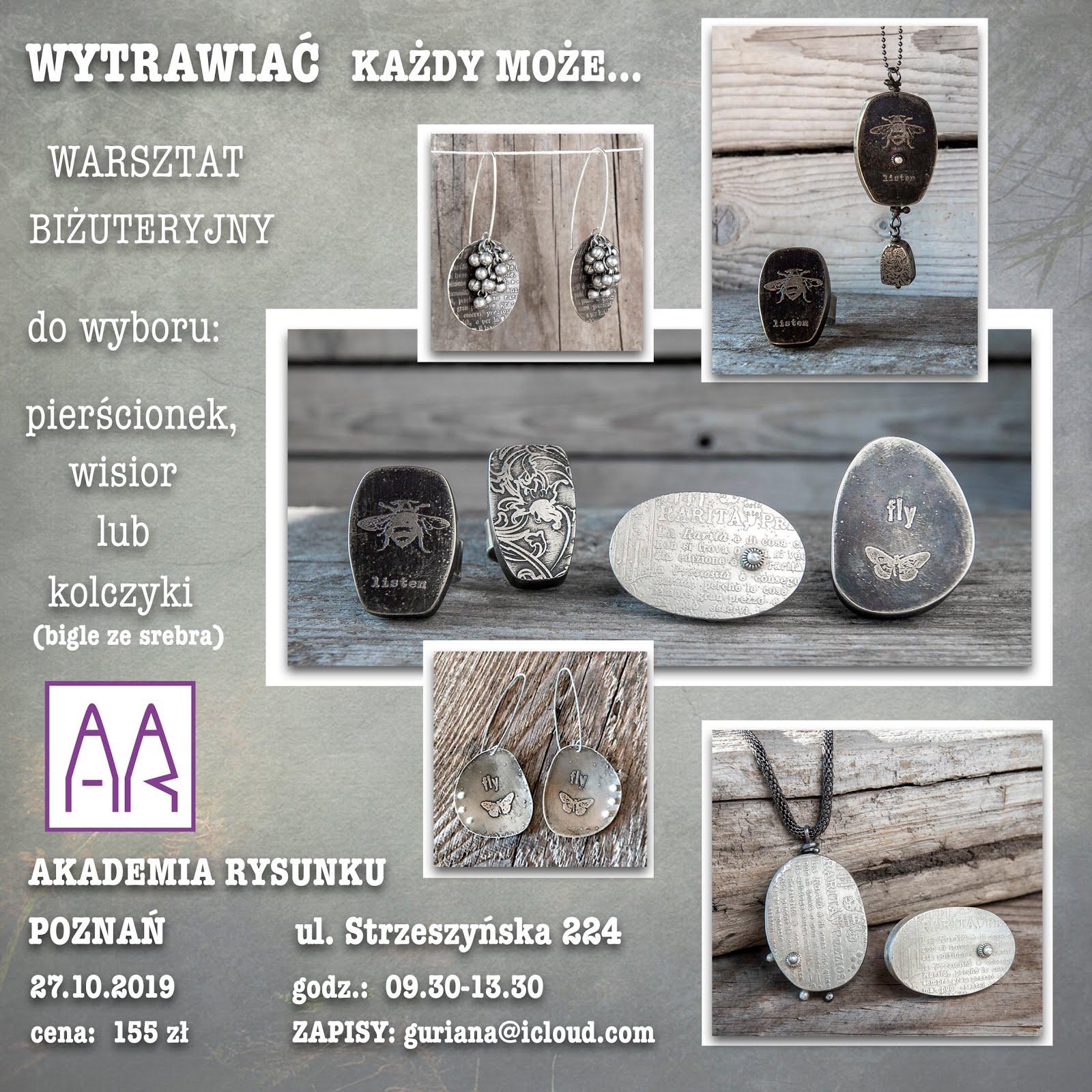 Poznań warsztat biżuteryjny Wytrawiać każdy może