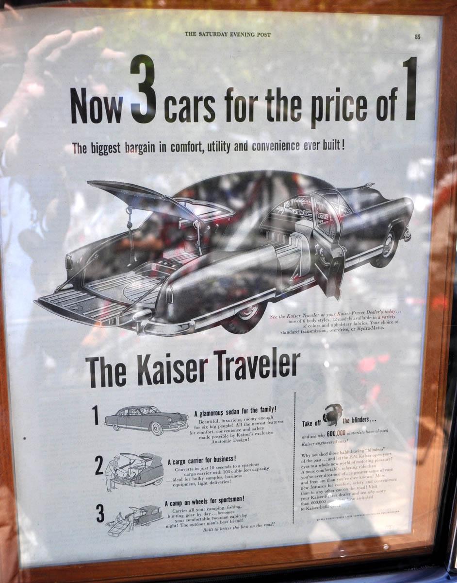 Just A Car Guy: an unusual car, the 1951 Kaiser traveler, 2 doors ...