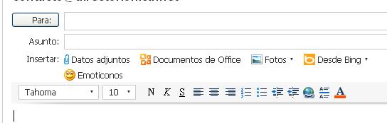 Adjuntar un archivo en Hotmail