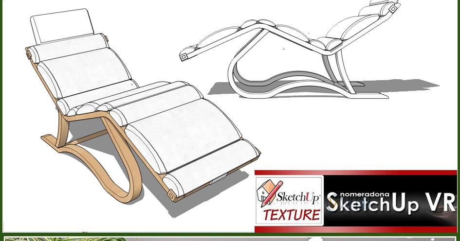 Sketchup texture chese longue sketchup 3d model for Arredi sketchup