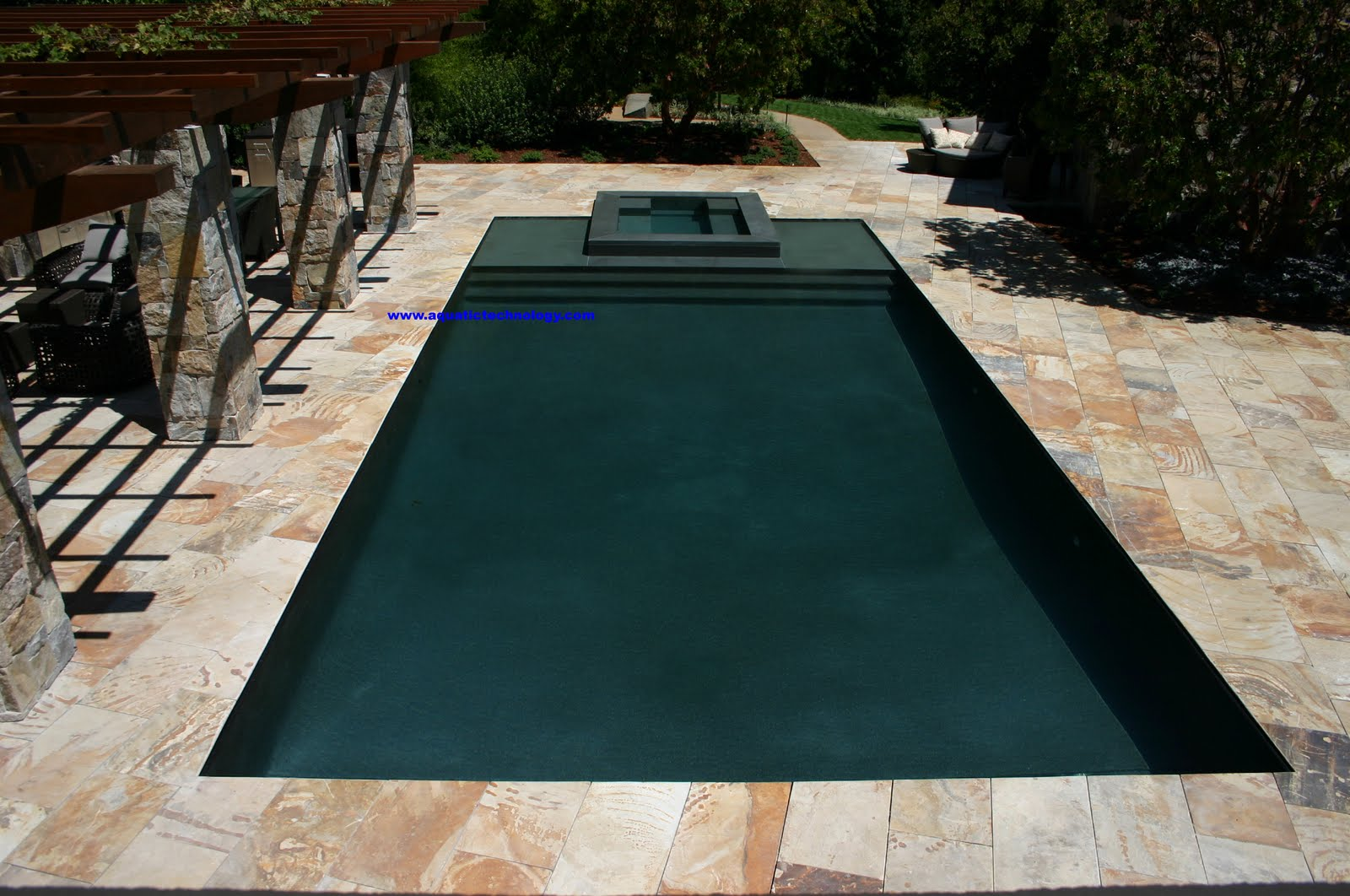 Watershapes water shapes vanishing edge infinity edge for Pool edges design