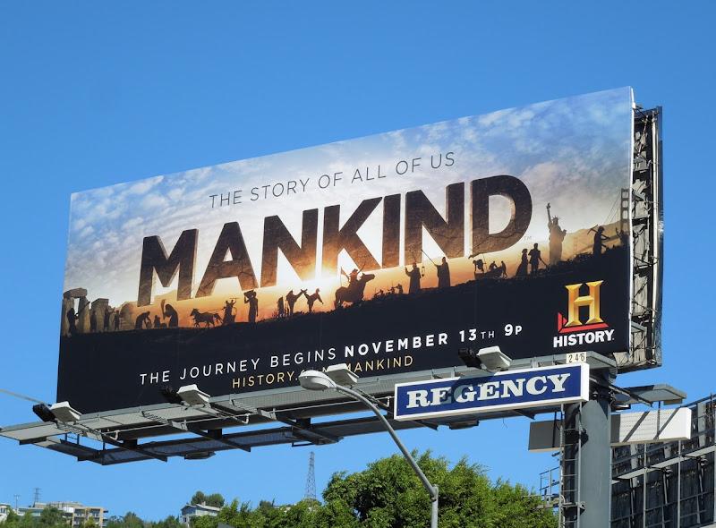 Mankind TV billboard