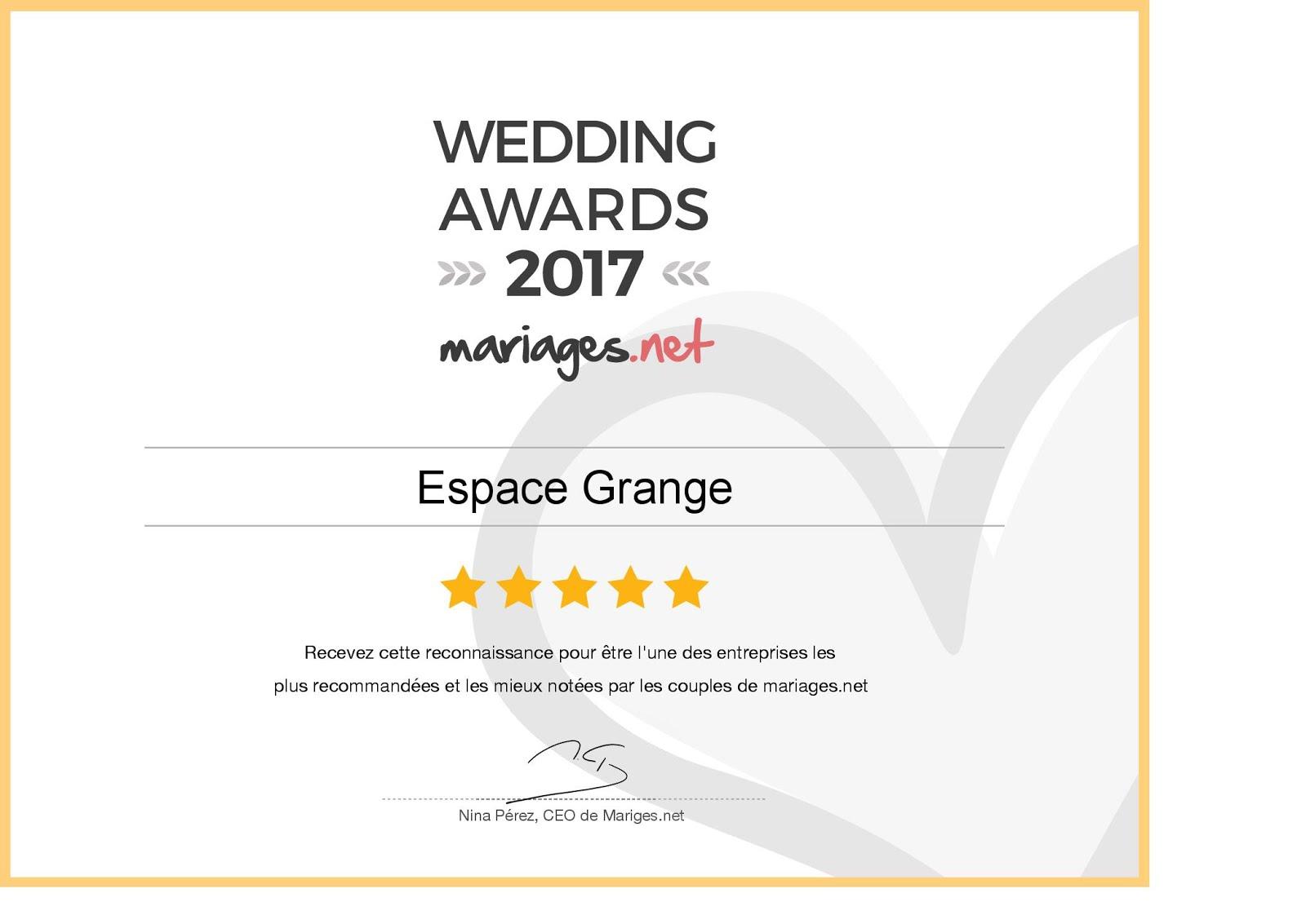 AWARDS 2017 - MARIAGE.NET