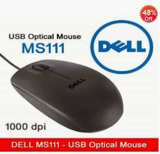 Dell MS111 USB 2.0 Optical Mouse just for Rs.248 Only at Shopclues