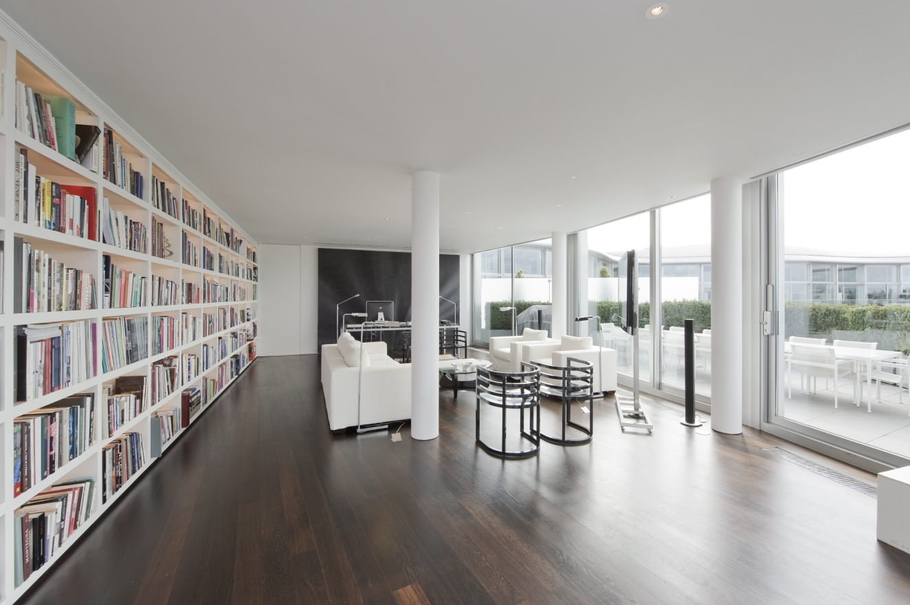 World of architecture living in london amazing riverside for Home library architecture