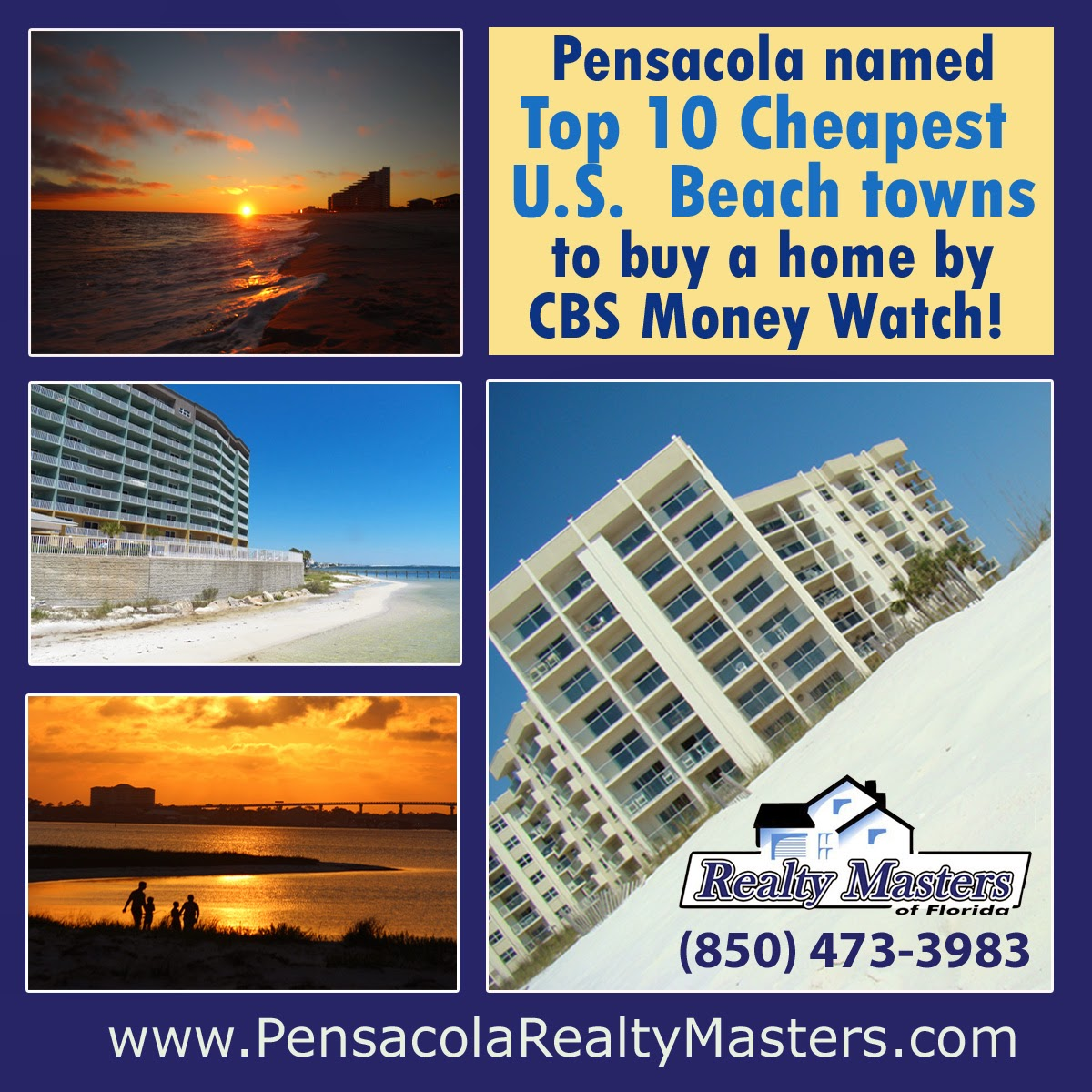Pensacola affordable waterfront beach real estate