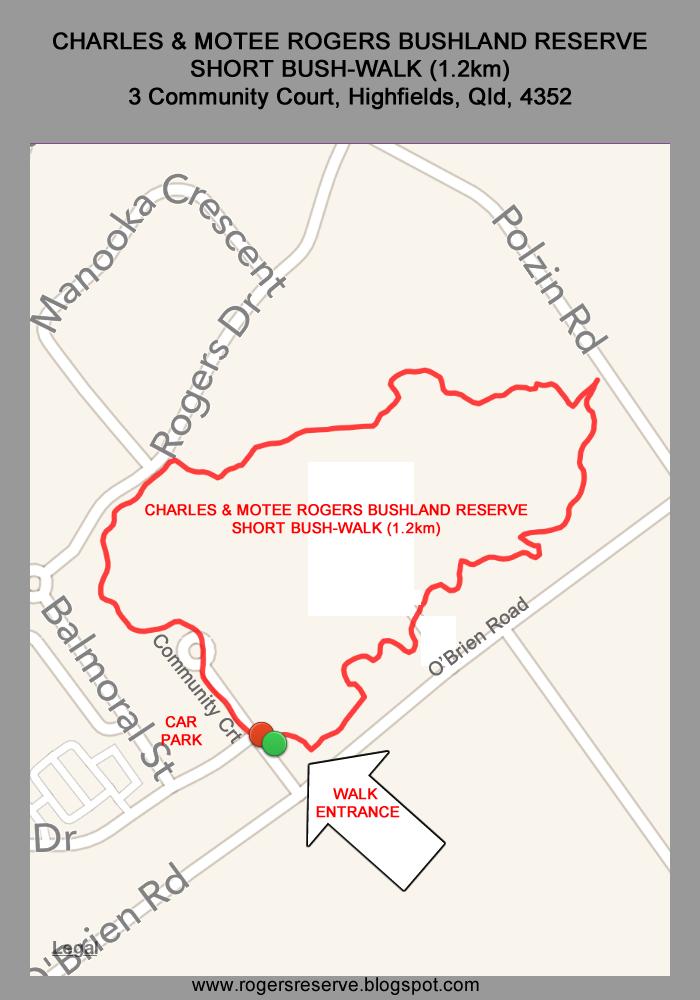 Charles and Motee Rogers Bushland Reserve Bushwalk Map