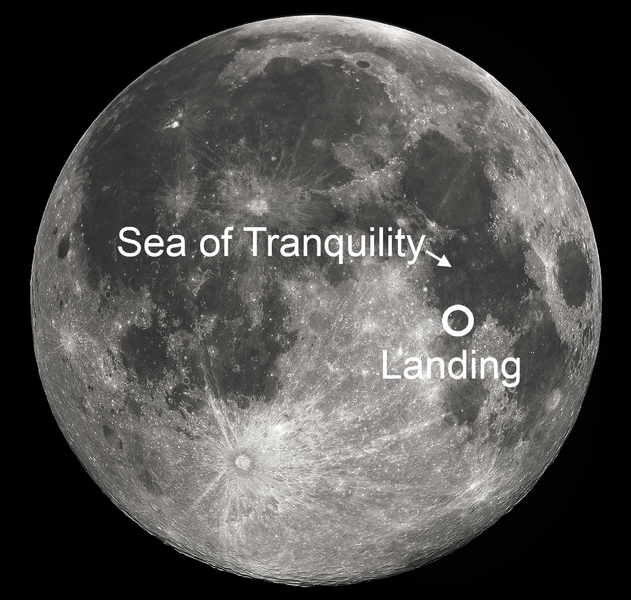 sea of tranquility on moon