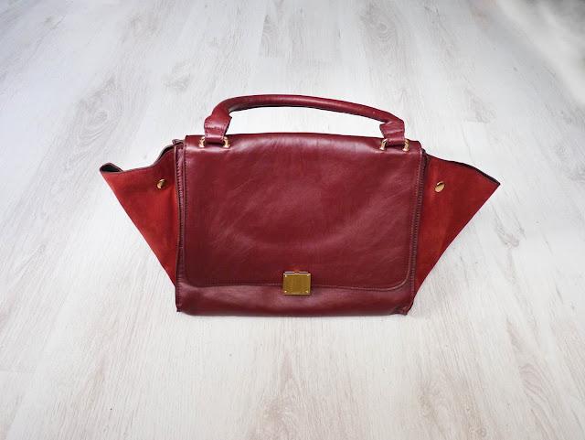 celine, trapeze bag, winged bag, lookalike, celine lookalike, ebay, wing bag, new in, fashion blogger, it bag, oxblood bag