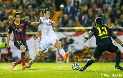 gol de Bale final Copa del Rey Real Madrid FC Barcelona