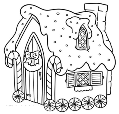 Gingerbread House Coloring Pages Pdf : Gingerbread house coloring page gt disney pages