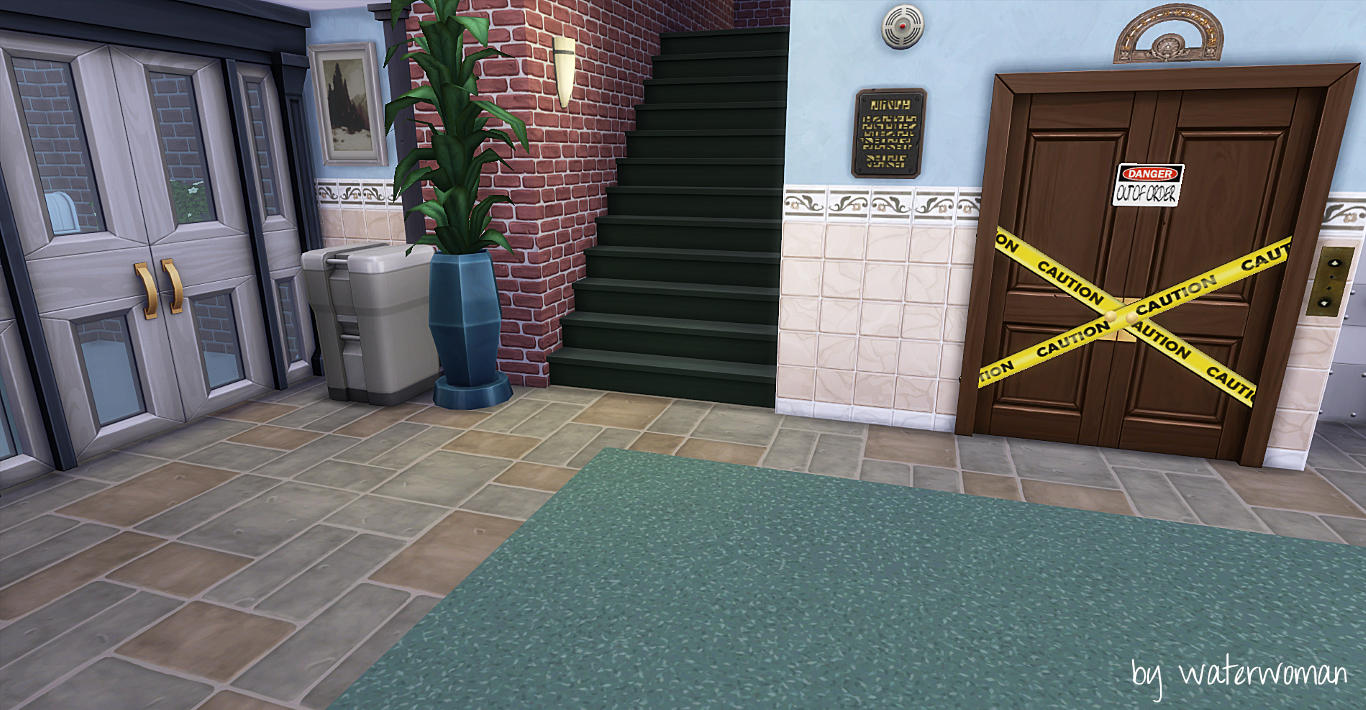 My sims 4 blog the big bang theory apartments by waterwoman for Apartment design sims 3