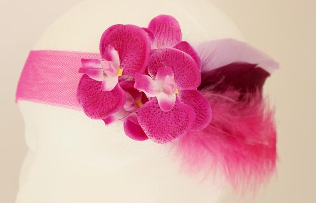 Colección Orquídea - Banda Crin estrecha fucsia