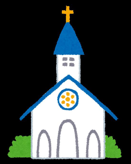 教会・チャペルのイラスト ... : メッセージカード 枠 : カード