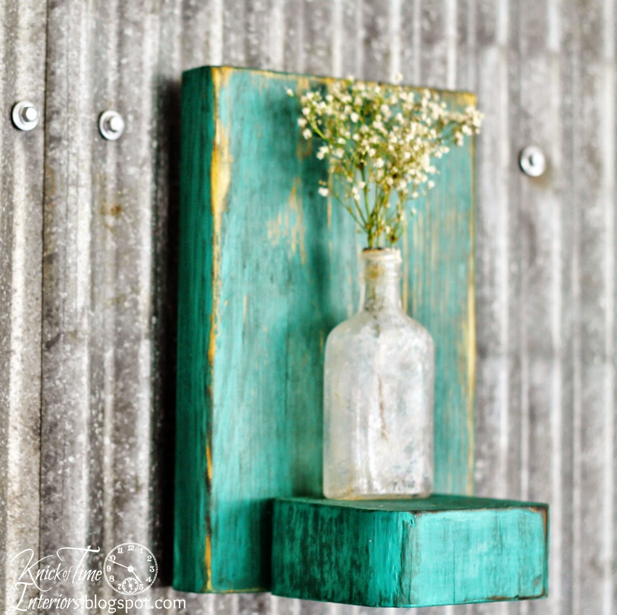 Apothecary Bottle Repurposed Flower Vase via Knick of Time