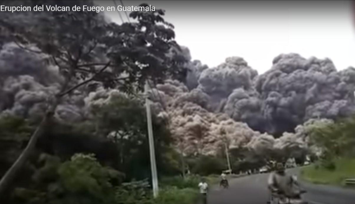 ERUPCIÓN DEL VOLCAN DE FUEGO, GUATEMALA