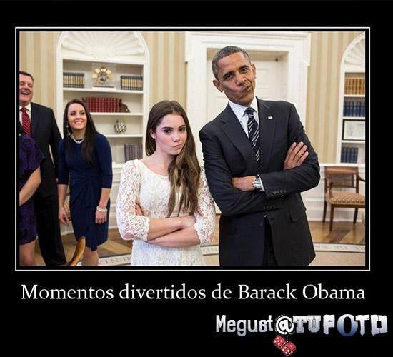 Noticia Barack Obama tiene una expresión medio rara