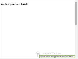 css position fixed