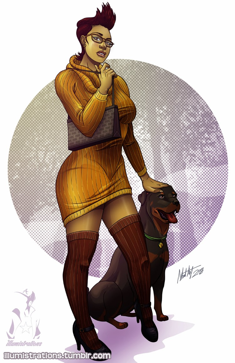 Jinkies Velma Dinkley Scooby Doo Detective Agency Black Rottweiler African American Illumistrations drawing art illustration