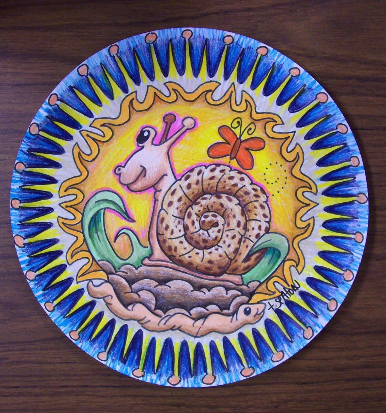 Paper Plate Art  sc 1 st  The Lost Sock - Blogger : paper plate art - pezcame.com