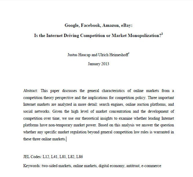 is the internet driving competition or market monopolization pdf
