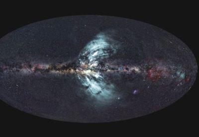 Courants magnétiques venant du plan galactique de la Voie Lactée 2500