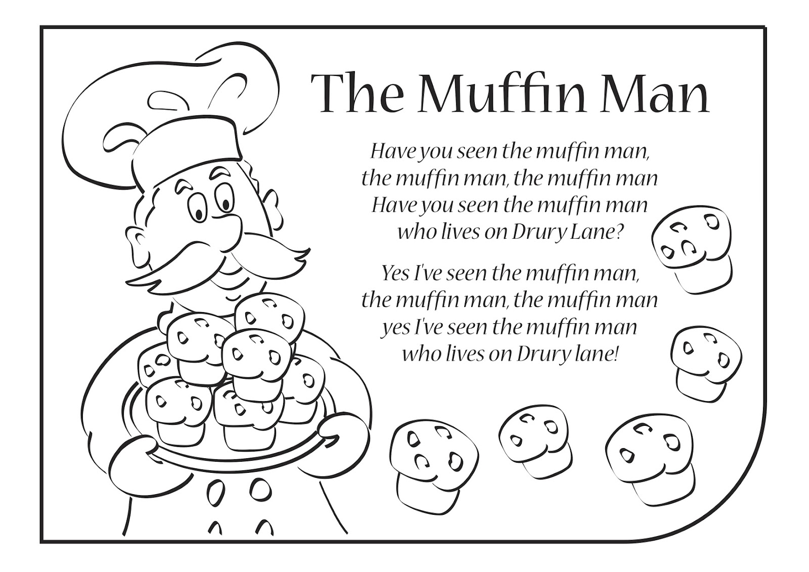 Muffin Man Printable Book Www Topsimages Com