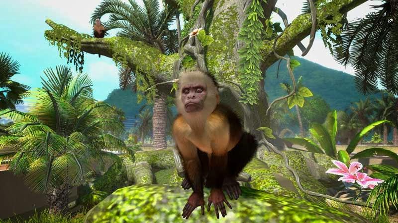 Zoo Tycoon Xbox Game Review picture of a monkey in a tree