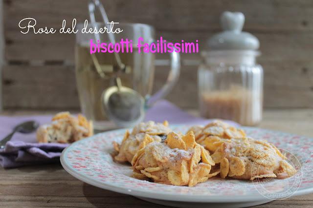 Biscotti facili rose del deserto con cornflakes e uvetta ipasticcidiluna foodblog