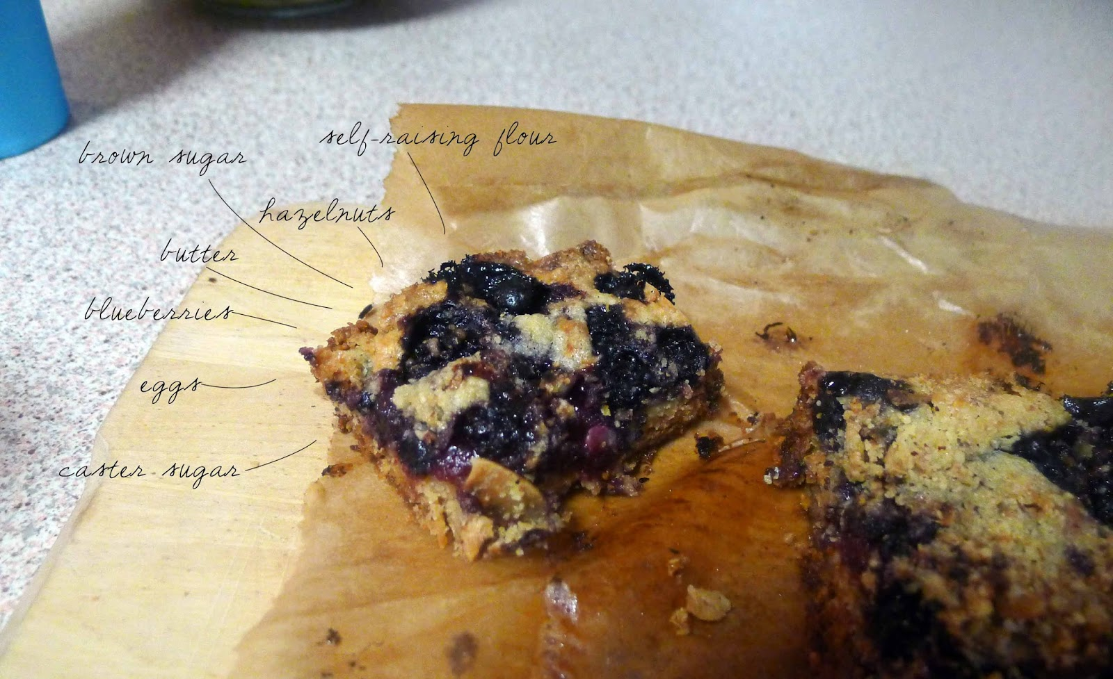 Happy Belly: Blueberry Hazelnut Bars