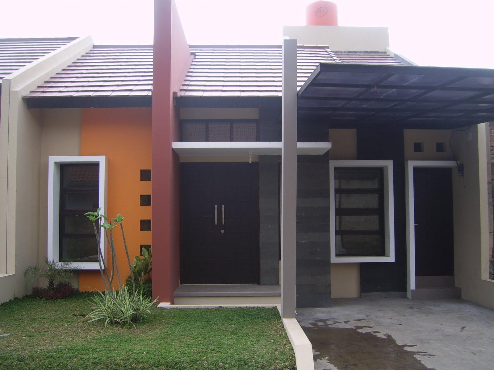 contoh gambar rumah minimalis modern 1 lantai tampak depan