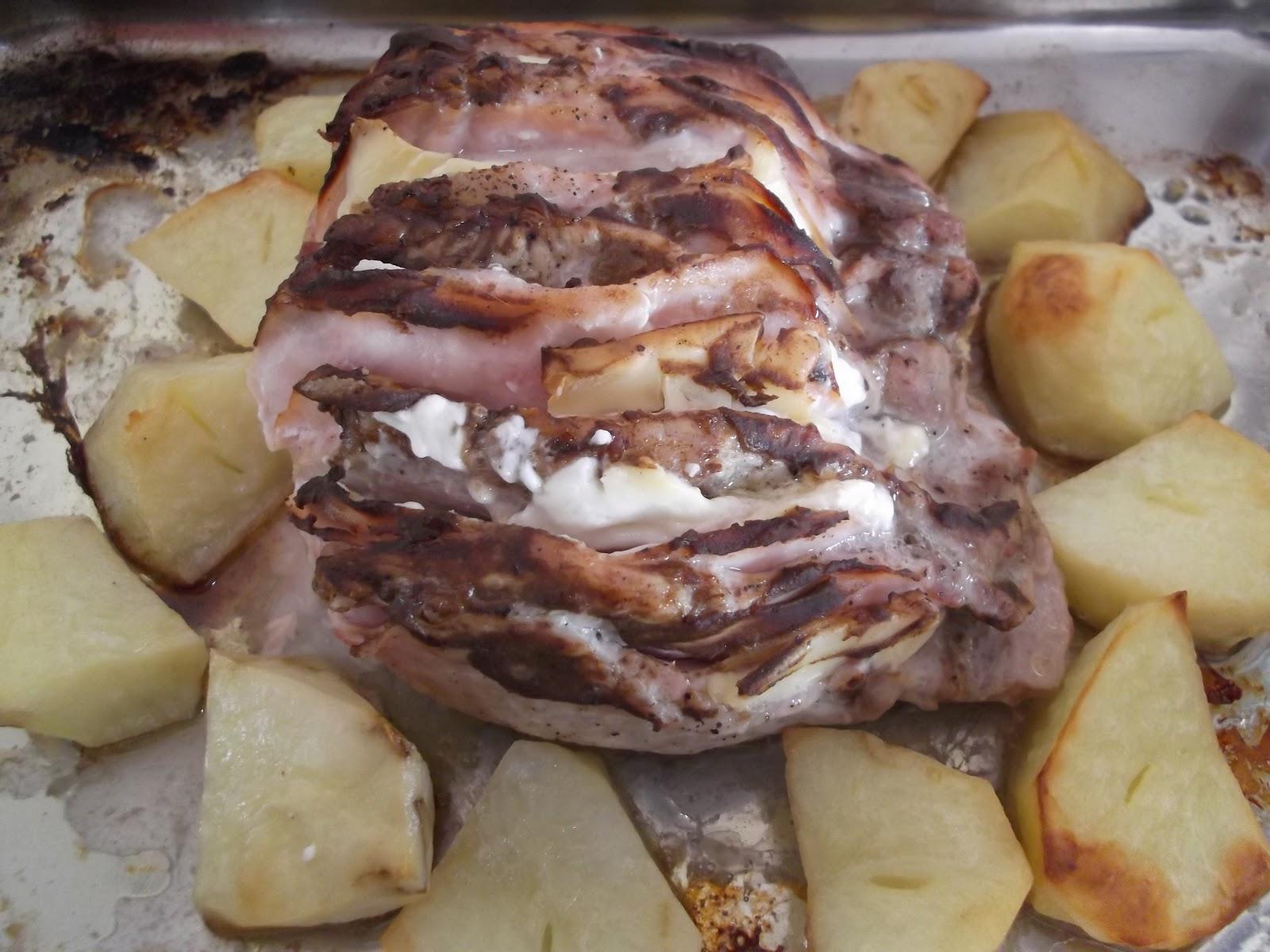 Platos y dulces lomo relleno al horno for Platos dulces