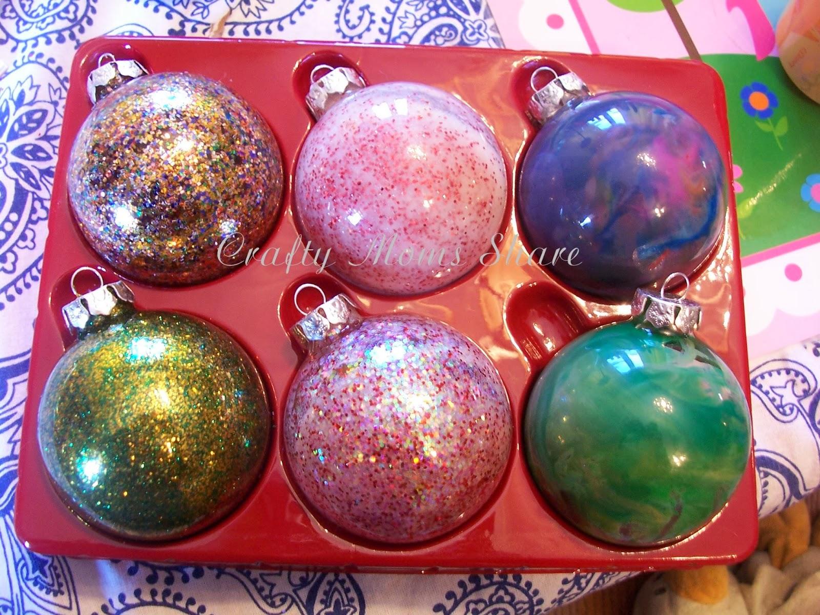 Crafty moms share glass ball christmas ornaments ideas