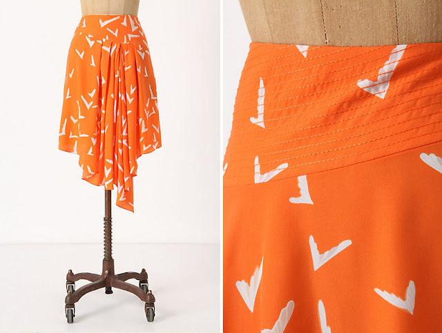 Anthropologie Scattered Wing Skirt :: Effortless Anthropologie