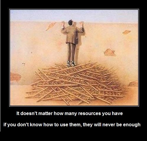 It Doesn't Matter How Many Resources You Have - If You Don't Know How To Use Them They Will Never Be Enough