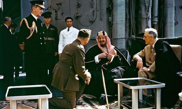 King Abdulaziz and Franklin D. Roosevelt in Bitter Lake