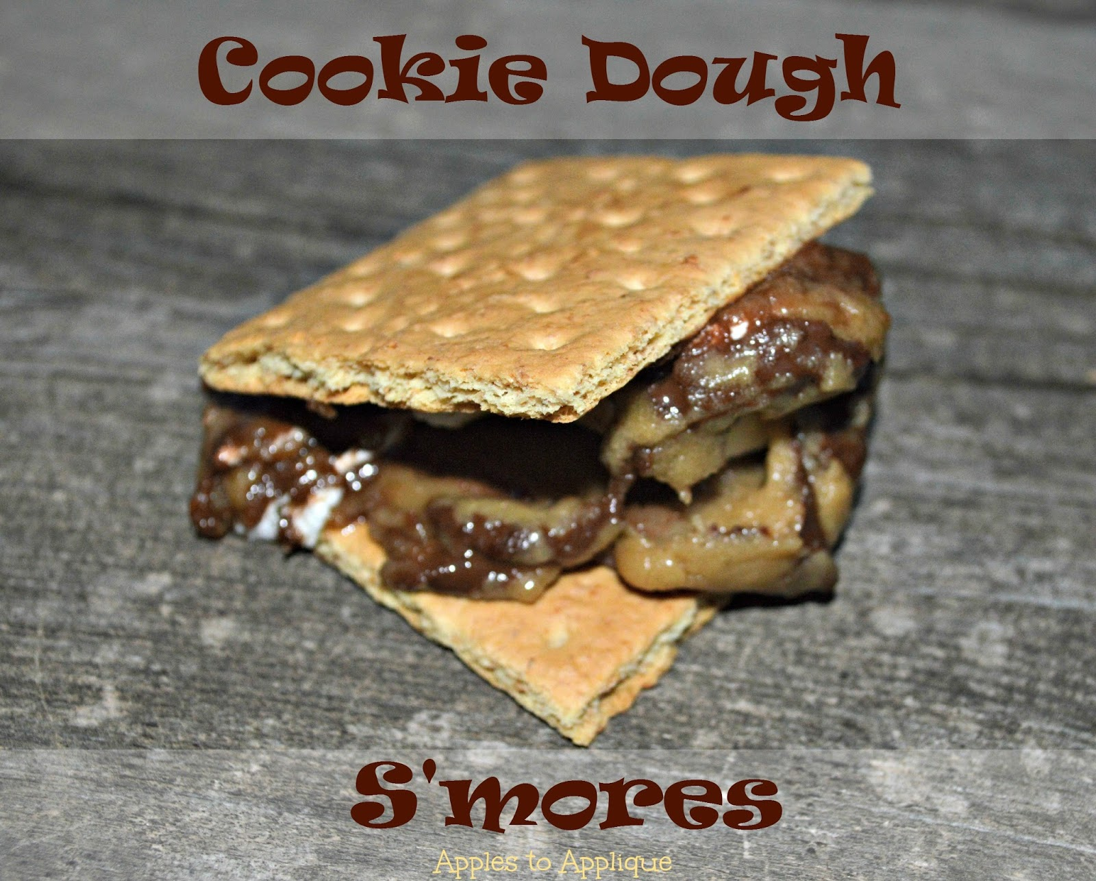 Cookie Dough S'mores - a fun twist on a summer time classic! | Apples to Applique #smores