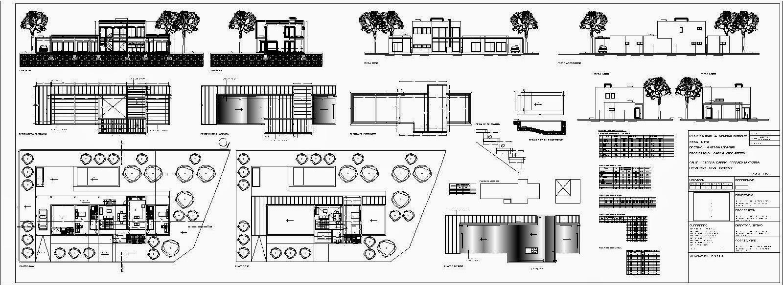 Pilar baltera anteproyecto proyecto casa ortega for Planos completos de casas pdf