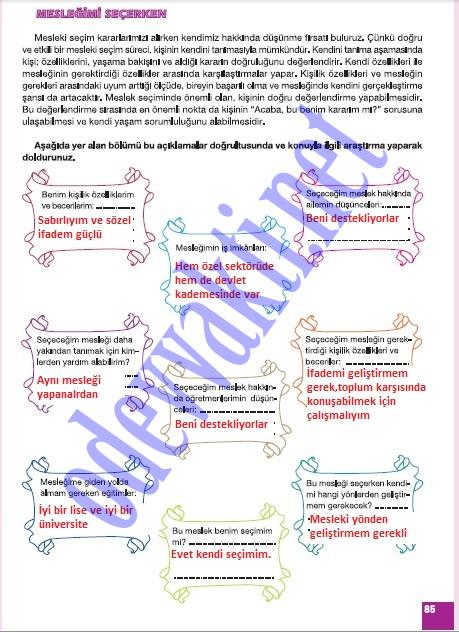 Sinif sosyal bilgiler çalişma kitabi cevaplari sayfa 85 meb