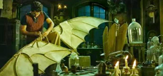 Ayushmann Khurrana joining wings of his plane in his lab in Hawaizaada still