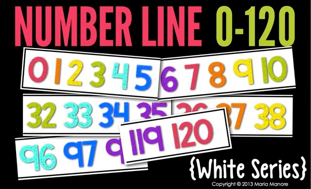 Number Line 0-120 White Series