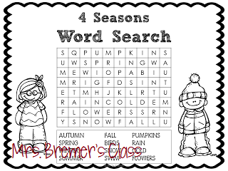 This word search was a fun way to highlight some seasonal vocabulary: