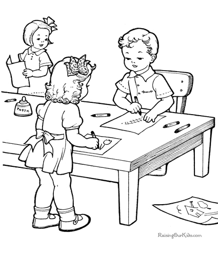 School Coloring Pages Printable